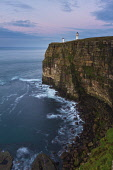 Dunnet Head Lighthouse perched on dramatic cliffs of the Caithness coastline, Highlands of Scotland. Mark Ferguson/ Scottish Viewpoin Pentland Firth,nobody,daytime,outdoors,coast,Caithness,coastal,coastline,water,sea,cliff,Dunnet Head lighthouse,Dunnet Head,lighhouse,lighthouses,uk,u.k,Great Britain,GB,G.B,Scotland,Scottish,Highland