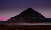 Buachaille Etive Mor just before dawn on a cold autumn morning.  Rannoch Moor, Highlands of Scotland. Andrew Wilson/ Scottish Viewpoin uk,u.k,Great Britain,GB,G.B,Scotland,Scottish,nobody,outdoors,autumn,daytime,mountain,mountains,hill,hills,dawn,light,munro,munros,Buachaille Etive Mor,Rannoch Moor