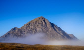Early morning sunlight strikes the face of Buachaille Etive Mor, Rannoch Moor, Highlands of Scotland Andrew Wilson/ Scottish Viewpoin uk,u.k,Great Britain,GB,G.B,Scotland,Scottish,nobody,outdoors,autumn,daytime,mountain,mountains,hill,hills,dawn,light,munro,munros,Buachaille Etive Mor,Rannoch Moor,mist,misty