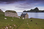 The archipelago of St Kilda, Outer Hebrides, Scotland Allan Wright/ Scottish Viewpoint uk,u.k,Great Britain,GB,G.B,Scotland,Scottish,nobody,outdoors,daytime,Summer,st kilda,Outer Hebrides,world heritage site,archipelago,coast,coastal,coastline,water,sea,island,islands,hirta,sheep,soay