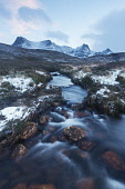 Icy burn running down from Ben Loyal in Sutherland, Highlands of Scotland Mark Ferguson / Scottish Viewpoi uk,u.k,Great Britain,GB,G.B,Scotland,Scottish,nobody,outdoors,daytime,mountain,mountains,hill,hills,highland,highlands,Sutherland,Ben Loyal,stream,streams,burn,burns,snow,winter
