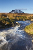 The conical mountain Morven in Caithness, Highlands of Scotland Mark Ferguson / Scottish Viewpoi uk,u.k,Great Britain,GB,G.B,Scotland,Scottish,nobody,outdoors,daytime,remote,wild,wilderness,morven,stream,streams,burn,burns,Caithness,highland,highlands
