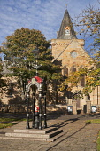 Dornoch Cathedral, Sutherland, Highlands of Scotland Dennis Barnes/ Scottish Viewpoin uk,u.k,Great Britain,GB,G.B,Scotland,Scottish,nobody,outdoors,daytime,dornoch,highlands,highland,autumn,autumnal,cathedral
