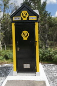 Automobile Assocation Box on the A93 nr Camus O' May, Aberdeenshire, Scotland D.G.Farquhar/ Scottish Viewpoint uk,u.k,Great Britain,GB,G.B,Scotland,Scottish,nobody,outdoors,daytime,automobile association,the AA,motoring,box,assistance,help,motorists,summer