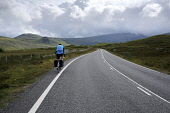A cyclist on the Isle of Harris,  Outer Hebrides, Scotland. Iain McLean/ Scottish Viewpoint uk,u.k,Great Britain,GB,G.B,Scotland,Scottish,1 person,daytime,outdoors,Outer Hebrides,western isles,cycling,cyclist,cyclists,bike,bikes,biking,biker,bikers,bicycle,bicycles,Isle of Lewis,lewis,island