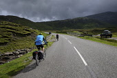 Two cyclists on the Isle of Harris,  Outer Hebrides, Scotland. Iain McLean/ Scottish Viewpoint uk,u.k,Great Britain,GB,G.B,Scotland,Scottish,2 person,daytime,outdoors,Outer Hebrides,western isles,cycling,cyclist,cyclists,bike,bikes,biking,biker,bikers,bicycle,bicycles,Harris,island,islands,isle
