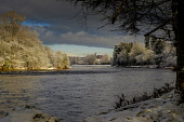 The River Ness in Inverness in winter, Highlands of Scotland Andrew Wilson/ Scottish Viewpoin uk,u.k,Great Britain,GB,G.B,Scotland,Scottish,nobody,daytime,outdoors,Inverness,River Ness,cold,frosty,morning,snow,snowy,winter