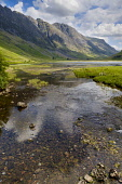 The River Coe flowing into Loch Achtriochtan in Glen Coe, Highlands of Scotland Andrew Wilson/ Scottish Viewpoin uk,u.k,Great,Britain,GB,G.B,Scotland,Scottish,nobody,daytime,outdoors,summer,Highlands of Scotland,glencoe,glen,coe,Loch Achtriochtan,mountain,mountains,hill,hills