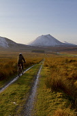 Off road cycling in the Berriedale valley near Braemore, Caithness, Highlands of Scotland Mark Ferguson/ Scottish Viewpoin uk,u.k,Great,Britain,GB,G.B,Scotland,Scottish,1 person,daytime,outdoors,caithness,highland,highlands,cycling,cyclist,cyclists,bike,bikes,biking,biker,bikers,bicycle,bicycles,mountain,people,person