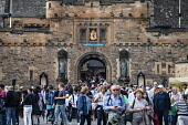 Many tourists at entrance to Edinburgh Castle in summer 2016, Edinburgh, United Kingdom Iain Masterton / Scottish Viewpoint Edinburgh,castle,tourists,busy,many,people,crowded,crows,crowds,Scotland,Scottish,tourism,travel outdoor,daytime,attraction,tourist,destination,visitors
