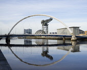 View along River Clyde towards Arc Bridge at Finnieston in Glasgow Iain Masterton / Scottish Viewpoint Clyde,Glasgow,River,Scotland,view,Arc,Bridge,Squinty,United Kingdom