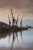 View of BAE Systems shipbuilding yard on River Clyde at Govan in Glasgow united kingdom Iain Masterton / Scottish Viewpoint BAE,Govan,Glasgow,United Kingdom,Scottish,Scotland,shipyard,shipbuilding,shipbuilder,industry,River Clyde,Clydeside