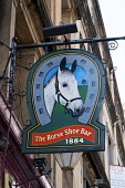 Sign outside famous horseshoe Bar in Glasgow, Scotland, United Kingdom Iain Masterton / Scottish Viewpoint Horse,shoe,bar,Glasgow,horseshoe,pubs,bars,Sotland,Scottish,sign,exterior,outside,nobody,Britain,British,United,Kingdom