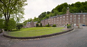 View of historic New Lanark UNESCO World Heritage site in Lanarkshire, Scotland, United Kingdom Iain Masterton / Scottish Viewpoint New,Lanark,Scotland,UNESCO,world,heritage,site,village,industrial,travel,tourism,view,outdoors,exterior,daytime,historic,historical,Scottish,Britain,british,united,Kingdom,Europe,European,old,building