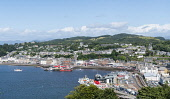 View over town of Oban in Argyll and Bute, Scotland, United Kingdom Iain Masterton / Scottish Viewpoint Oban,skyline,view,harbour,town Scotland,Scottish,towns,Argyll,Bute,daytime,travel,tourism,Britain,British,United Kingdom,Europe,European,summer
