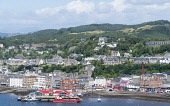 View over town of Oban in Argyll and Bute, Scotland, United Kingdom Iain Masterton / Scottish Viewpoint Oban,view,harbour,town Scotland,Scottish,towns,Argyll,Bute,daytime,travel,tourism,Britain,British,United Kingdom,Europe,European,summer