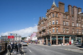 View along waterfront street in central Oban, Argyll and Bute, Scotland, United Kingdom Iain Masterton / Scottish Viewpoint Oban,street,centre,Scotland,Scottish,argyll,Bute,exterior,building,travel,tourism,United Kingdom,UK,Britain,British,daytime