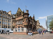 Former underground station office and entrance at  St Enoch Square in Glasgow, Scotland, United Kingdom Iain Masterton / Scottish Viewpoint Glasgow,St Enoch,Square,city,urban,scene,street,subway,metro,station,Scotland,Scottish,building,exterior,United Kingdom,Europe,European,daytime,outdoor,architecture,entrance,people,heritage,historic