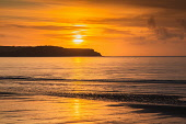 Sunset on the beach at Ayr South Ayrshire Scotland UK D.G.Farquhar/ Scottish Viewpoint Ayr,Beach,Britain,Coast line,EU,Europe,Evening,Evening light,GB,Great Britain,Reflections,River Clyde,Scotland,South Ayrshire,Sunset,UK,coast,coastline,shore line,shoreline