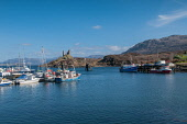 Castle Moil Kyleakin Isle of Skye with fishing boats in harbour Scotland D.G.Farquhar/ Scottish Viewpoint Britain,Caisteal Maol,Castle,Castle Moil,EU,Europe,Fishing boats,GB,Great Britain,Isle of Skye Highland,Kyleakin,Scotland,UK