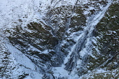 Grey Mare's Tail waterfall in winter snow and ice, near Moffat, Dumfries & Galloway, Scotland. Richard Clarkson/ Scottish Viewpoint uk,u.k,Great Britain,GB,G.B,Scotland,Scottish,nobody,daytime,outdoors,snow,ice,winter,icicles,frozen,water,waterfall,Grey,Mare's,Tail,Moffat,scenic,dramatic,rugged,wild,cold,Dumfries,Galloway