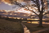 Linlithgow Palace and loch, sunset, west lothian, Scotland, Dennis Barnes/ Scottish Viewpoint uk,u.k,Great Britain,GB,G.B,Scotland,Scottish,nobody,daytime,outdoors,Linlithgow Castle,sunset,dusk,loch