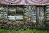 Old farm building, Ardelve, Dornie, Highlands of Scotland Alan Gordon/ Scottish Viewpoint uk,u.k,Great Britain,GB,G.B,Scotland,Scottish,nobody,daytime,outdoors,Dornie,Highlands,Lochalsh,agricultural,barn,bothy,byre,corrugated iron,croft,faming,stone,timber,traditional,crofting