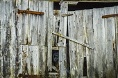 Timber building Alan Gordon/ Scottish Viewpoint uk,u.k,Great Britain,GB,G.B,Scotland,Scottish,nobody,daytime,abstract,agricultural,agriculture,barn,building,byre,croft,door,faming,farm,graphic,hinge,old,plank,rust,rusty,shed,timber,weathered,wood,w