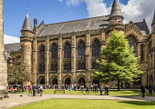 Bute Hall, University of Glasgow, Scotland Alan Gordon/ Scottish Viewpoint uk,u.k,Great Britain,GB,G.B,Scotland,Scottish,people,daytime,Glasgow,University,building,hall,historic,stained glass,student,students,sunlight,sunny,window