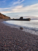 The curved shingle bay below Catterline, near Stonehaven, Scotland Allan Coutts/ Scottish Viewpoint uk,u.k,Great Britain,GB,G.B,Scotland,Scottish,nobody,daytime,outdoors,aberdeen,bay,catterline,coast,east,kincardineshire,lighthouse,north,sea,stonehaven,todhead,cliff,clifftop,coastal,coastline,shingl