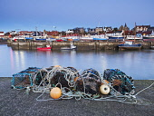 St Monans Harbour East Neuk of Fife , Scotland Allan Coutts/ Scottish Viewpoint uk,u.k,Great Britain,GB,G.B,Scotland,Scottish,nobody,daytime,outdoors,colour,colour image,day,dock,fife,fishing industry,fishing village,harbour,horizontal,lobster pots,no one,no people,no-one,outside