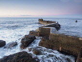 Zig-zag pier at St Monans, Fife, Scotland Allan Coutts/ Scottish Viewpoint uk,u.k,Great Britain,GB,G.B,Scotland,Scottish,nobody,daytime,outdoors,harbour,breakwater,coastal,coast,fife,east neuk,defense,bent,angles,concrete,jetty,pier,breathtaking,landscape,seascape,scene,scen