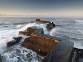 Zig-zag pier at St Monans, Fife, Scotland Allan Coutts/ Scottish Viewpoint harbour,breakwater,coastal,coast,fife,east neuk,defense,bent,angles,concrete,jetty,pier,breathtaking,landscape,seascape,scene,scenery,scenic,tourist,tourism,attraction,sea,waves,rocks,tide,tidal,firth