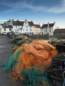 Pittenweem is a Royal Burgh. Founded as a fishing village, it grew along the shoreline from the West where the sheltered beaches provided safe places for fishermen to draw their boats up out of the wa... Allan Coutts/ Scottish Viewpoint uk,u.k,Great Britain,GB,G.B,Scotland,Scottish,nobody,daytime,outdoors,angle,architectural,architecture,attraction,attractive,background,building,calendar,colourful,cottage,destination,east,fife,fishin