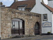 The Scottish Fisheries Museum in the harbour in Anstruther, Fife , Scotland Allan Coutts/ Scottish Viewpoint uk,u.k,Great Britain,GB,G.B,Scotland,Scottish,nobody,daytime,outdoors,anstruther,boat,boats,building,changing,cod,cottage,courtyard,decline,east,explore,fife,firth,fisheries,fishermans,fishing,flagshi