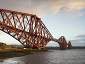 Forth Rail Bridge crossing the Firth of Forth from North Queensferry, Scotland Allan Coutts/ Scottish Viewpoint uk,u.k,Great Britain,GB,G.B,Scotland,Scottish,nobody,daytime,outdoors,bridge,cantilever,fife,firth of forth,forth rail bridge,railway,rail,iconic,landmark,north queensferry,civil engineering,tourist a