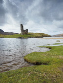 Ardvreck Castle is a ruined castle dating from the 16th century which stands on a rocky promontory jutting out into Loch Assynt in Sutherland. Highlands of Scotland Allan Coutts/ Scottish Viewpoint ancient,architecture,ardvreck,ardvreck castle,areas,beauty,britain,building,calm,castle,clan,derelict,uk,u.k,Great Britain,GB,G.B,Scotland,Scottish,nobody,daytime,outdoors,environment,heritage,highlan