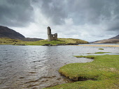 Ardvreck Castle is a ruined castle dating from the 16th century which stands on a rocky promontory jutting out into Loch Assynt in Sutherland. Highlands of Scotland Allan Coutts/ Scottish Viewpoint uk,u.k,Great Britain,GB,G.B,Scotland,Scottish,nobody,daytime,outdoors,ancient,architecture,ardvreck,ardvreck castle,areas,beauty,britain,building,calm,castle,clan,derelict,environment,heritage,highlan