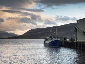 Sunset over Ullapool Harbour.Highlands of Scotland Allan Coutts/ Scottish Viewpoint uk,u.k,Great Britain,GB,G.B,Scotland,Scottish,nobody,daytime,outdoors,beautiful,beauty,boat,boats,cloud,clouds,colour,colourful,dock,ferry,fishing,glow,glowing,harbour,industry,loch,loch broom,evening