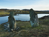 Tursachan, the Callanish VIII stones on edge of a cliff on the south of the island of Great Bernera , Outer Hebrides, Scotland Allan Coutts/ Scottish Viewpoint uk,u.k,Great Britain,GB,G.B,Scotland,Scottish,nobody,daytime,bernera bridge,eilean le�dhais,great bernera,hebridean,highway,highways,isle of lewis,leodhais,loch,loch barraglom,lochs,outer hebrides,roa