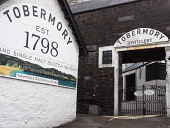 Entrance to Tobermory distillery on the Isle of Mull, Inner Hebrides, Scotland Allan Coutts/ Scottish Viewpoint uk,u.k,Great Britain,GB,G.B,Scotland,Scottish,nobody,daytime,attraction,balamory,bay,centre,distillery,entrance,famous,fishing,goods,great,harbour,hebrides,highlands,inner,island,isle,isles,kingdom,ma