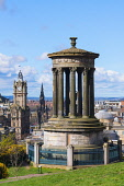 View of Dugald Stewart monument on Calton Hill and skyline in Edinburgh, Scotland Iain Masterton/ Scottish Viewpoint Edinburgh,Dugald Stewart,monument,Calton Hill,skyline Edinburgh,Calton Hill Edinburgh,Scotland,Scottish,view,travel,skyline,cityscape,city,capital city,scenic,daytime,outdoor,blue sky,famous places,co