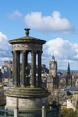 View of Dugald Stewart monument and skyline from Calton Hill in Edinburgh, Scotland Iain Masterton/ Scottish Viewpoint Edinburgh,Dugald Stewart,monument,Calton Hill,Calton Hill Edinburgh,Scotland,Scottish,view,travel,skyline,cityscape,city,capital city,scenic,daytime,outdoor,blue sky,famous places,colour image,capital