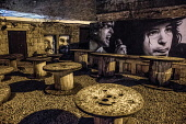 Clutha pub outdoor zone, mural, Glasgow, Scotland Allan Wright/ Scottish Viewpoint uk,u.k,Great Britain,GB,G.B,Scotland,Scottish,nobody,daytime,outdoors,glasgow,mural,clutha,pub,bar