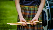 Peebles, Scotland UK 2nd September 2017. Peebles Highland Games, the biggest 'highland' games in the Scottish Borders took place in Peebles on September 2nd 2017 featuring pipe band contests, highland... Andrew Wilson/ Scottish Viewpoint uk,u.k,Great Britain,GB,G.B,Scotland,Scottish,group,daytime,outdoors,2017,Highland Games,Pipe Band,tartan,kilts,kilt,detail