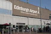 Edinburgh International Airport, Lothian, Scotland, United Kingdom. Iain Masterton/ Scottish Viewpoint Edinburgh Airport,Edinburgh International Airport,Scottish airport,airport Scotland,airports,travel terminal building,transport,exterior,daytime,transportation,aviation,industry,infrastructure,Scotlan