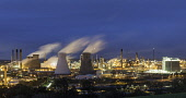 View of Grangemouth refinery operated by INEOS on River Forth in Scotland, United Kingdom Iain Masterton/ Scottish Viewpoint Grangemouth,Grangemouth refinery,INEOS,oil refinery,night,refineries,Scotland,Scottish,petrochemical,industrial complex,petrochemical plant,petrochemicals,oil refineries,view,industry,chemicals,energy