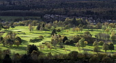 View of sunlit Stirling Golf Course during autumn in Stirling, Scotland, United Kingdom. Iain Masterton/ Scottish Viewpoint Stirling,Scotland,Scottish golf club,golf course,autumn,sunshine,landscape,daytime,scenic,outdoors,sport,park,sunny,autumnal season,seasons,seasonal colours,autumnal colours,autumn colours,Europe,Euro