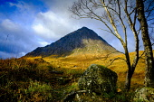 Buachaille Etive Mor - a well known and well loved Munro at the head of Glen Etive on Rannoch Moor, Highlands of Scotland Andrew Wilson/ Scottish Viewpoint uk,u.k,Great Britain,GB,G.B,Scotland,Scottish,nobody,daytime,outdoors,Buachaille Etive Mor,Glen Etive,Peak,Rannoch Moor,famous,landmark,mountain,munro,the herdsman of Etive,munros