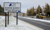Slochd Summit with the first snow of winter 2017. Highlands of Scotland Andrew Wilson/ Scottish Viewpoint uk,u.k,Great Britain,GB,G.B,Scotland,Scottish,nobody,daytime,outdoors,Slochd Pass,Slochd Summit,cold,snow,snowy,traffic,winter,road